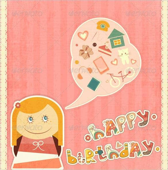 simple happy birthday wishing card