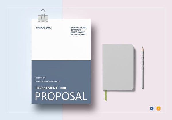 simple investment proposal template to print
