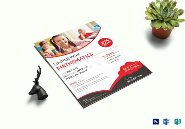 simple math tutor flyer