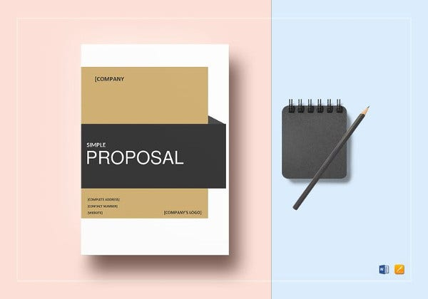 simple proposal word template to print