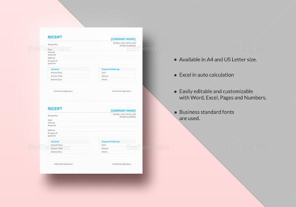 simple-receipt-template