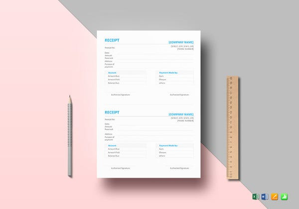 simple receipt template4