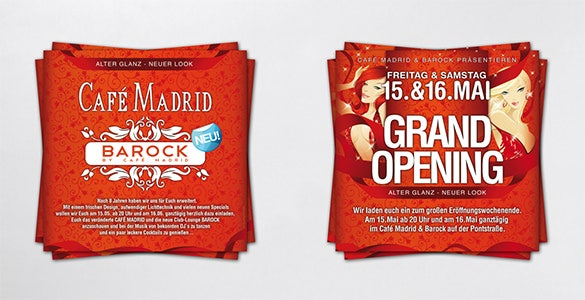 simple red colour grand opening flyer template