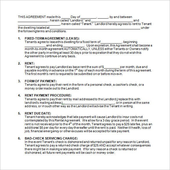 9 rental contract templates doc pdf free premium templates
