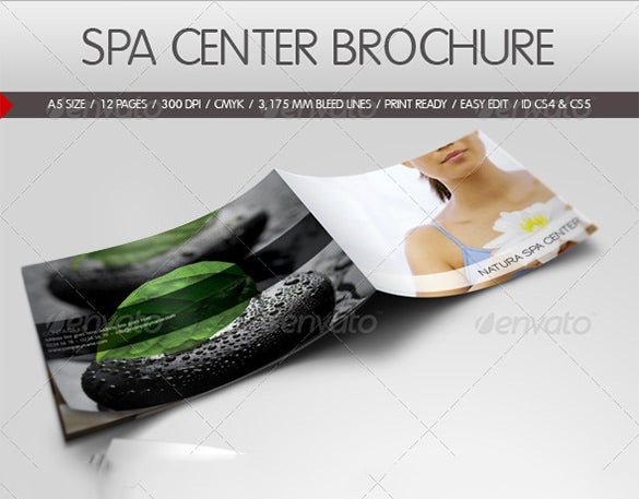 simple spa brochure template 8