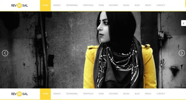 Single Image Parallax Joomla Template