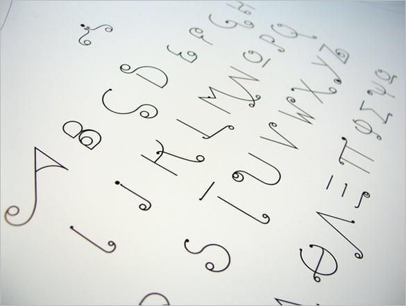 slide font alphabet letters