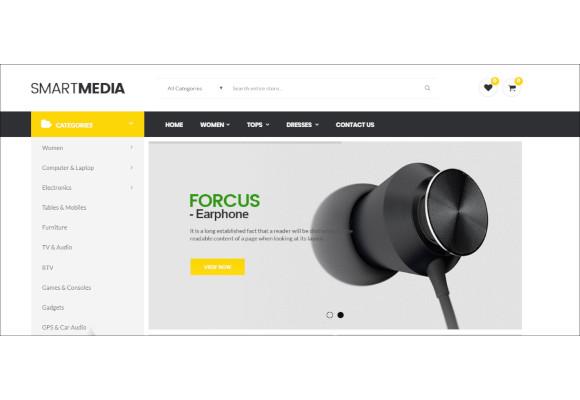smart media responsive prestashop theme