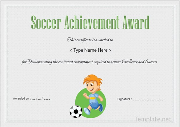 Free certificate template 65 adobe illustrator for Soccer certificate templates
