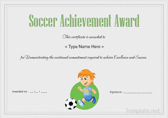 Soccer achievement certificates idealstalist soccer achievement certificates yadclub Image collections