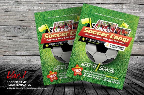 soccer camp photoshop flyer 7