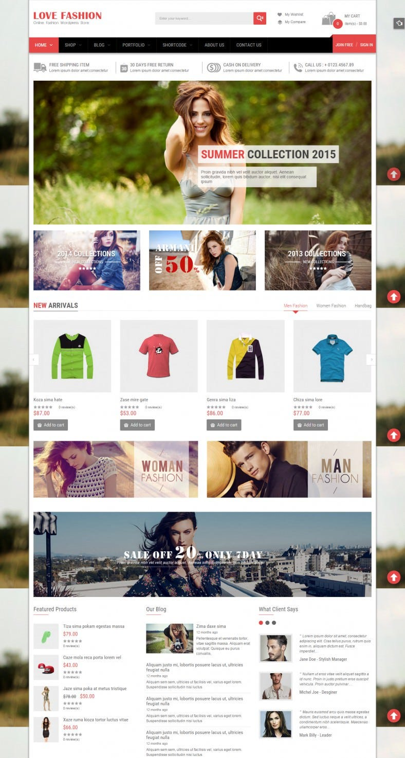 Social Network Integration Fashion Wp Theme