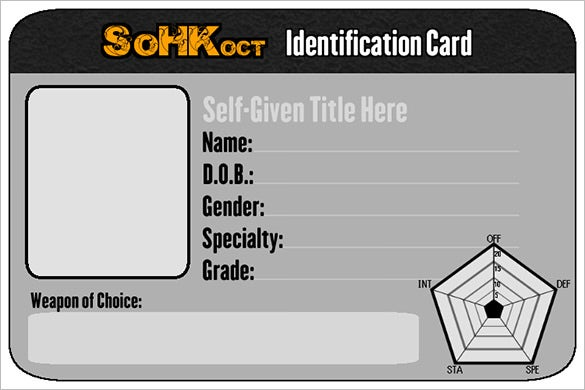 Sohk Oct ID Card PSD Template
