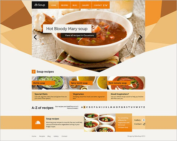 soup free psd website template