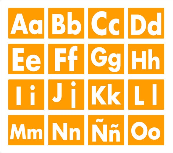 spanish alphabet letters template