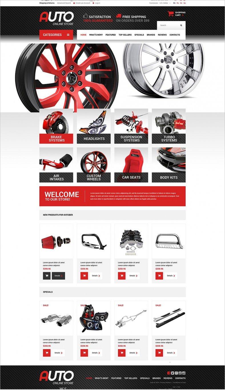 Auto Parts osCommerce Templates & Themes | Free & Premium | Free ...