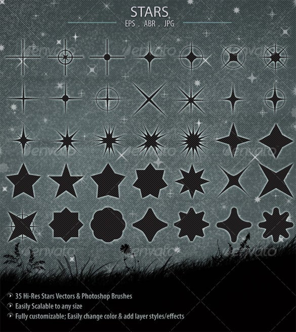 sparkles star brushes 7