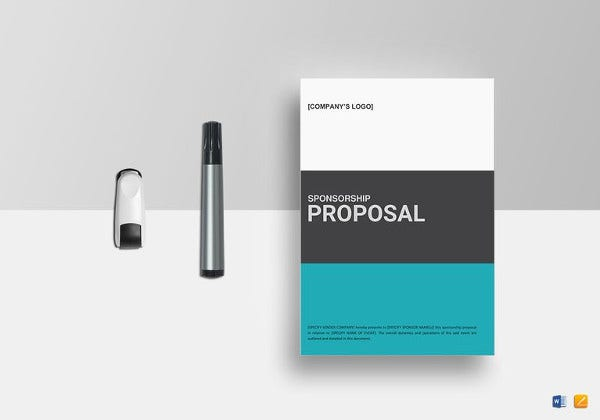 sponsorship proposal template ms word