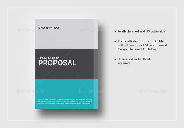 Sponsorship proposal template 15 free word excel pdf format sponsorship proposal template pronofoot35fo Gallery