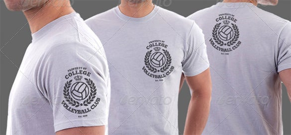 sport club t shirt template psd