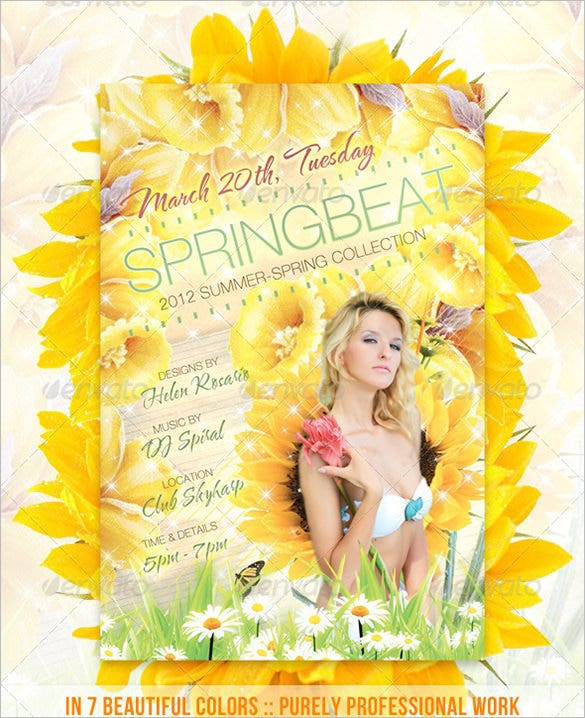 spring fashion psd flyer 6