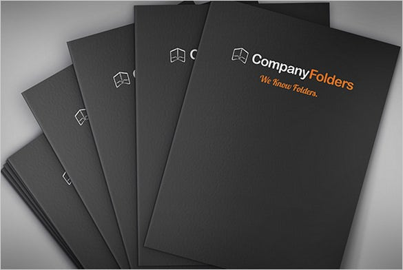 stacked psd presentation folder template