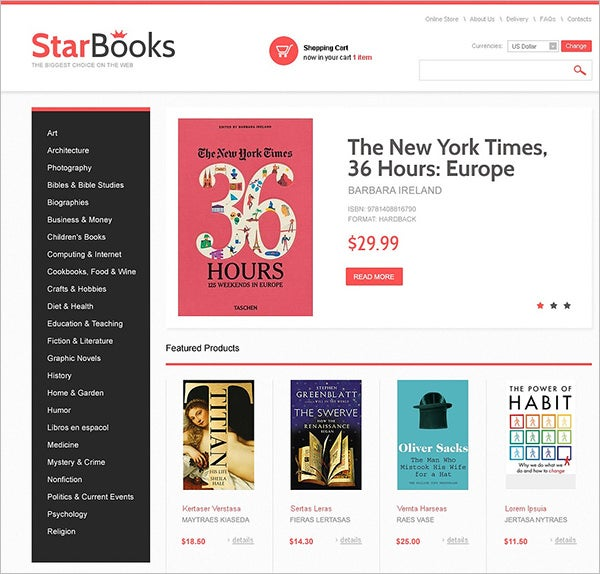 star books virtuemart template