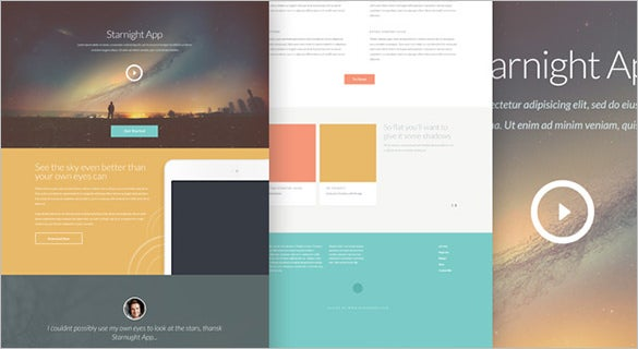 starnight free psd website template