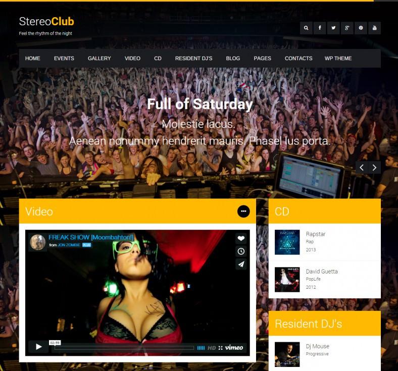 stereoclub nightclub html template 788x735