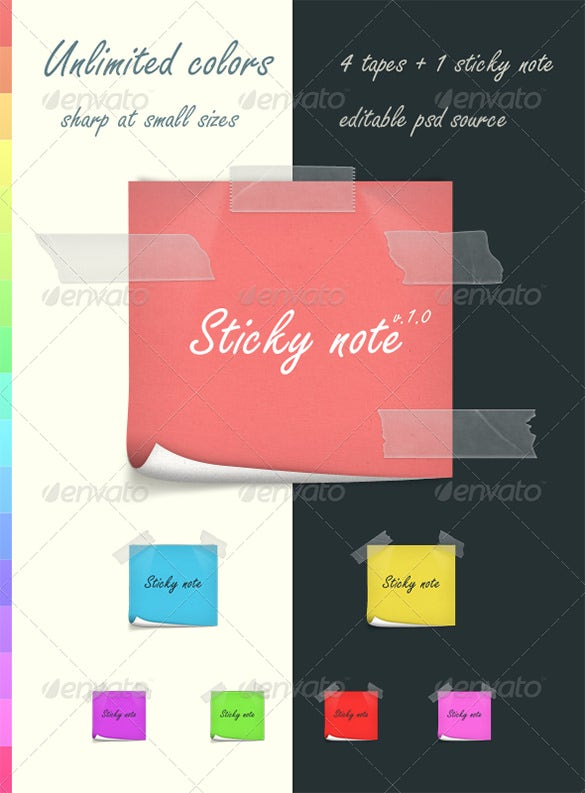 sticky notes illustration template 3