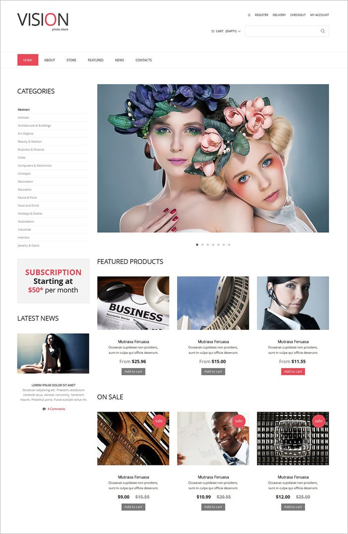 stock photo responsive woocommerce theme