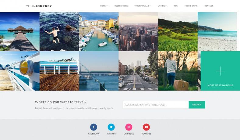 Stylish HTML5&CSS3 Travel Blog Theme