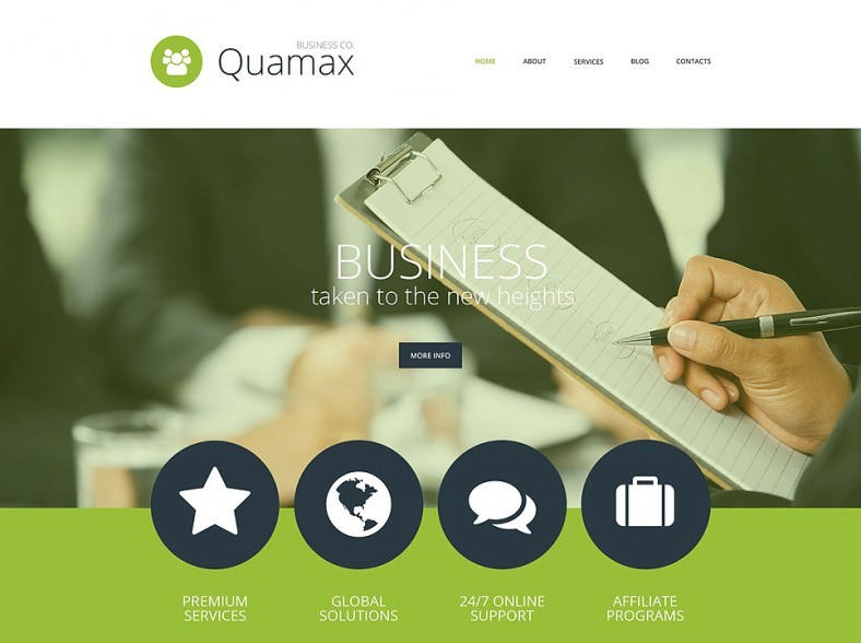 Stylish Parallax Effect Business Joomla Template