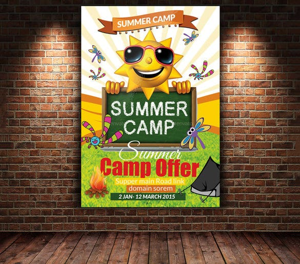 summer camp flyer template premium download 7
