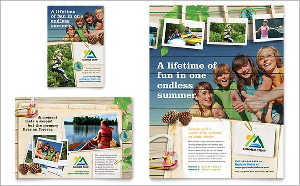 summer camp flyer template premium download