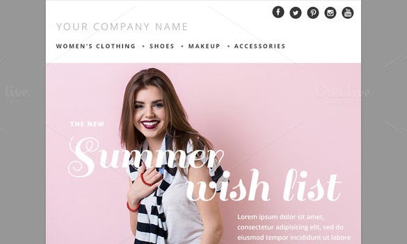 summer fashion psd email template