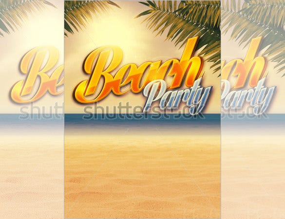 summer holiday party flyer background