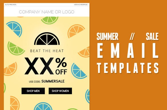 summer sale psd email template
