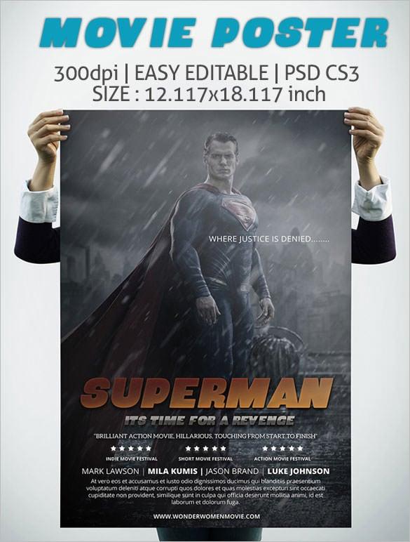 free psd movie poster templates 2018