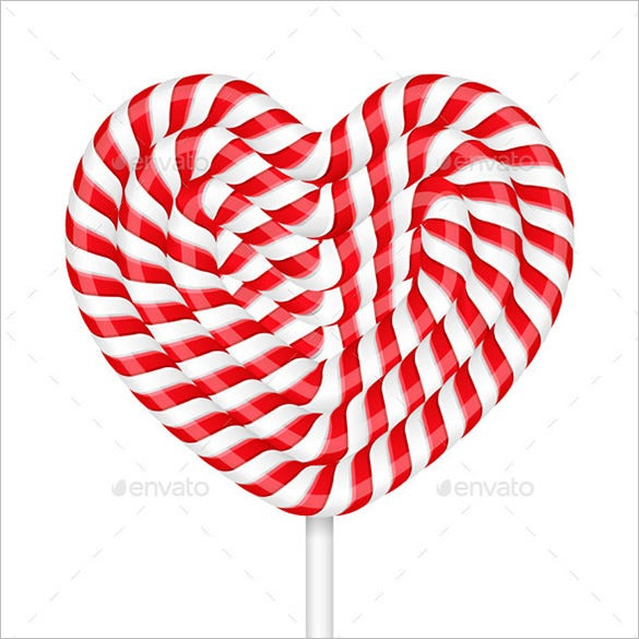sweet heart candy cane template