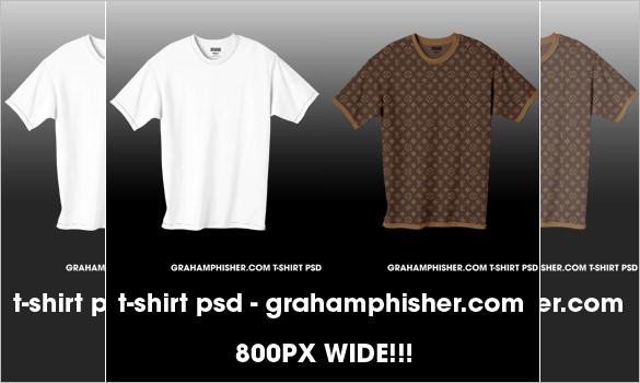 t shirt psd template
