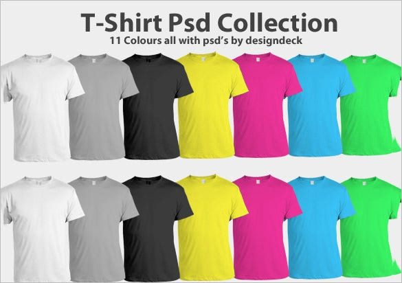 t shirt template psd collection