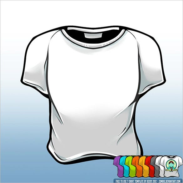 t shirt template psd download