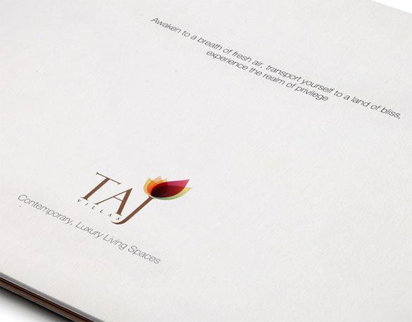 taj villas branding brochure design