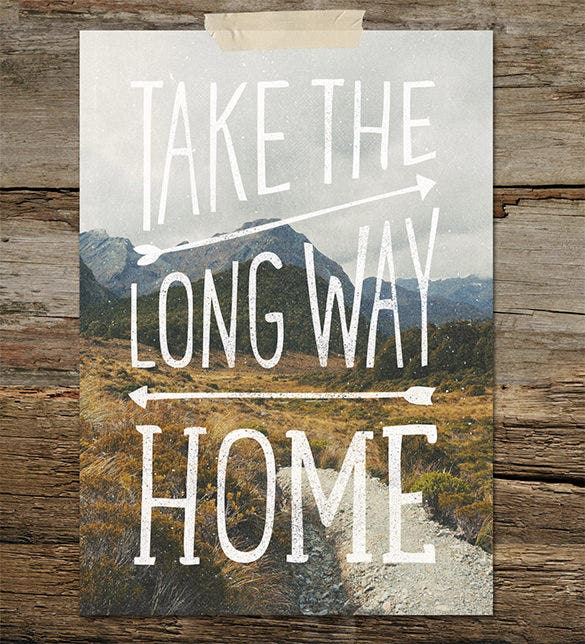 take the long way a4 downloadable template