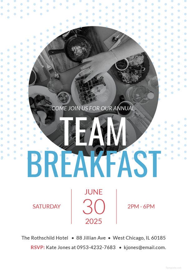team-breakfast-invitation-template