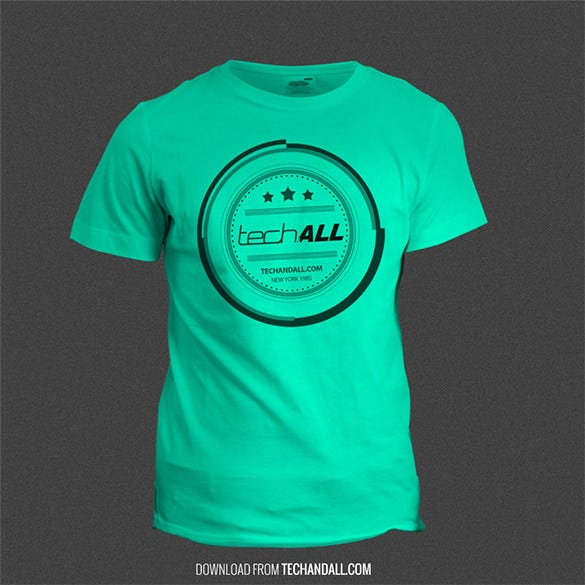 tech all psd t shirt mockup template