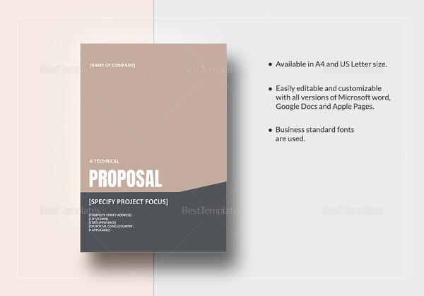 technical proposal templates  u2013 21  free sample  example