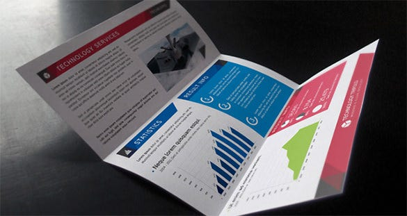 technology tri fold modern brochure
