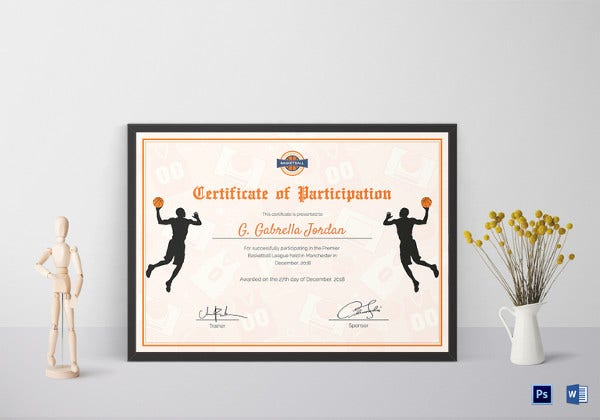 template for basketball participation certificate1